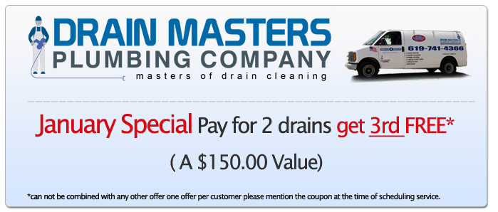 January 2013 Plumbing Discount Coupon For San Diego, CA