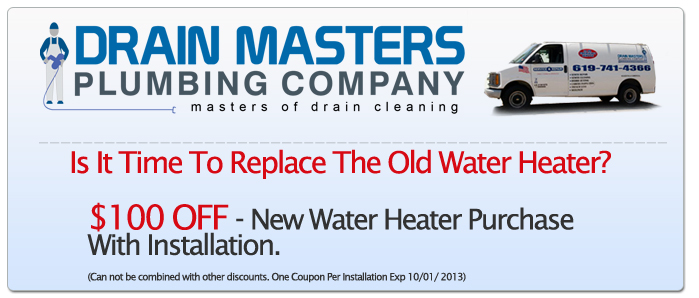 Water Heater Installation Discount Coupon San Diego, CA