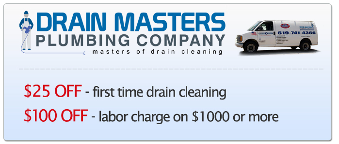 Discount Coupon For Plumbing and Drain Cleaning in El Cajon, CA