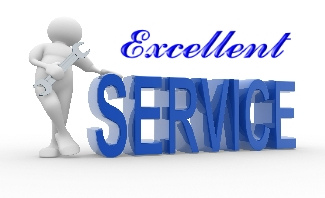 service banner with 3d